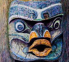 Totem Head by Wib Dawson