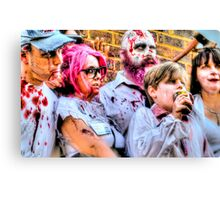 Zombies and Undead Family Canvas Print