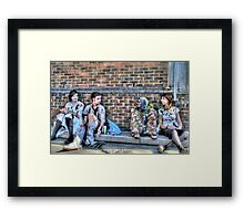 Zombies and Undeads Need a Rest, Too! Framed Print