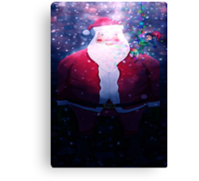 Poor Santa Stuck In The Chimney! Canvas Print