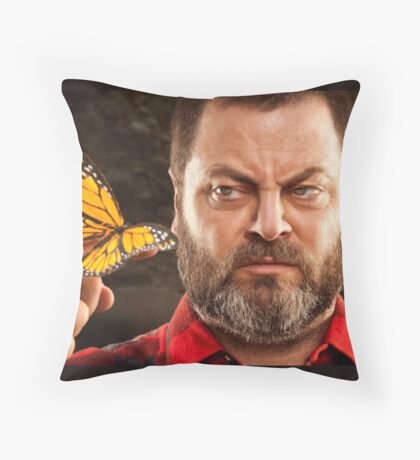 Offerman & Butterfly Throw Pillow