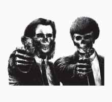 Pulp Fiction : vincent and  jules skull by SpaceRedShirt