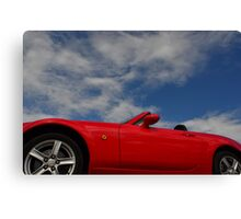 Blue skies, red hot body Canvas Print