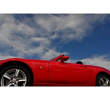 Blue skies, red hot body Photographic Print