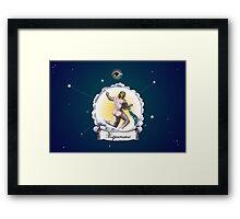 Aquarius Zodiac Astrology Print Framed Print