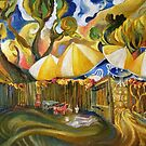 Carmel Valley Bistro Backyard by Barbara Sparhawk