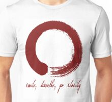 Large red enso with text Unisex T-Shirt