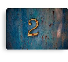 Lucky Number 2 Canvas Print