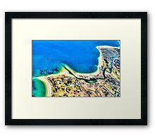 Aerial View of New York Seashore, USA Framed Print
