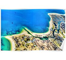 Aerial View of New York Seashore, USA Poster