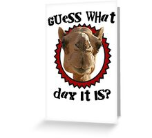 Hump Day Camel - Guess What Day it Is - Wednesday is Hump Day - Parody Camel Greeting Card