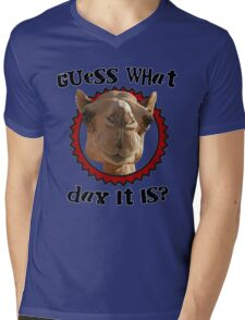 Hump Day Camel - Guess What Day it Is - Wednesday is Hump Day - Parody Camel Mens V-Neck T-Shirt