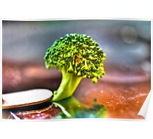 Micro Photography of Broccoli Poster