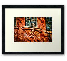 Red Gargoyle in New York City, USA Framed Print