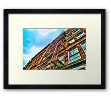 Red Facade in New York City, USA Framed Print