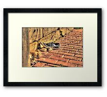 Lost Shoe in the Streets of Malta Framed Print