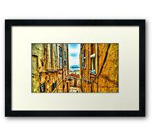 Streets of Gibraltar Framed Print