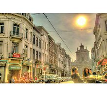 Streets of Brussels, Belgium Photographic Print