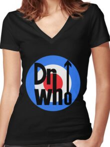 Dr Who Target (with arrow) Women's Fitted V-Neck T-Shirt
