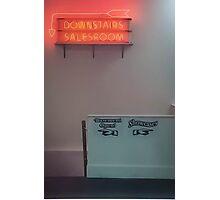 Downstairs Neon Photographic Print