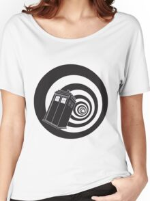 Doctor Who - TARDIS Mod Vortex Time Tunnel Women's Relaxed Fit T-Shirt