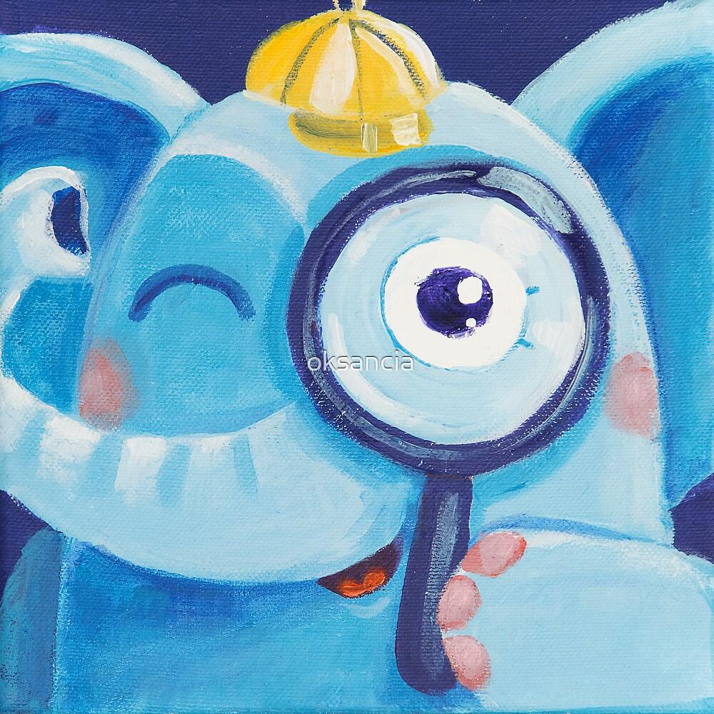 Look - curious Rondy the Elephant by oksancia