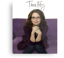 Tina Fey photo + Signature Metal Print