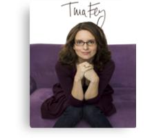 Tina Fey photo + Signature Canvas Print