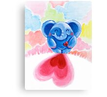 Me And My Heart - Rondy the Elephant In Love Canvas Print