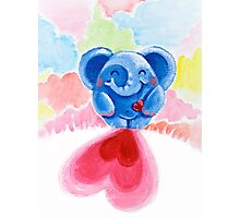 Me And My Heart - Rondy the Elephant In Love Photographic Print