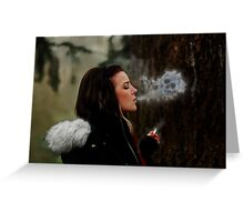 Deathly Exhale Greeting Card