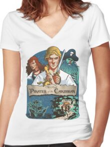 The real Pirates of the Caribbean Women's Fitted V-Neck T-Shirt