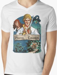 The real Pirates of the Caribbean Mens V-Neck T-Shirt