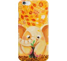 Gardening - Rondy the Elephant growing a plant iPhone Case/Skin