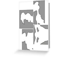 Cowboy Bebop Panels Greeting Card