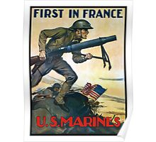 US Marines -- First In France Poster