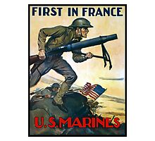 US Marines -- First In France Photographic Print