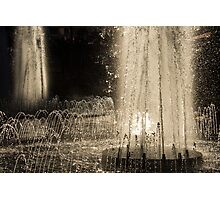 Silver Fountains Dancing in the Sun Photographic Print