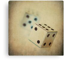 Vintage Chrome Dice Canvas Print