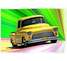 1956 Ford F100 Custom Pick-Up Truck VI Poster