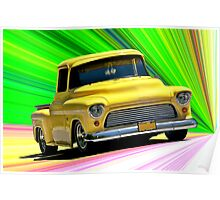 1956 Ford F100 Custom Pick-Up Truck VI Poster