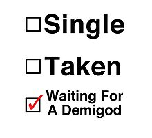 Waiting for a Demigod Photographic Print