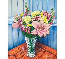 Baby Pink Lilies Photographic Print