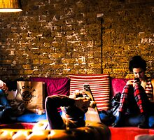 Hipster Scene in East London, UK by Noam  Kostucki