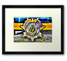 Sheriff Badge on a Police Car in Assateague, Maryland, USA Framed Print