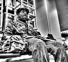 Sculpture at the Airport in Madrid, USA by Noam  Kostucki