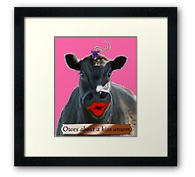 OWES ABOUT A KISS ANSOM Framed Print