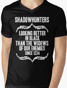 better in BLACK. Mens V-Neck T-Shirt
