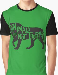 Animals Are Not Trophies Graphic T-Shirt