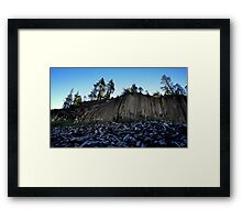 Devil's Post Pile Framed Print